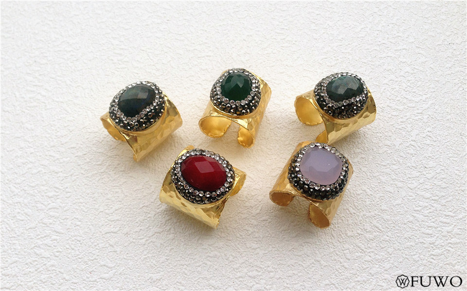 Carved Gem Stone Rings 11