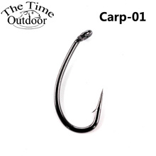 100pcs High Carbon Steel Carp Fishing Hook Fishhooks Durable Pesca Jig Head Fly Fishing Hooks with Hole Carp Fishing Tackle(China)