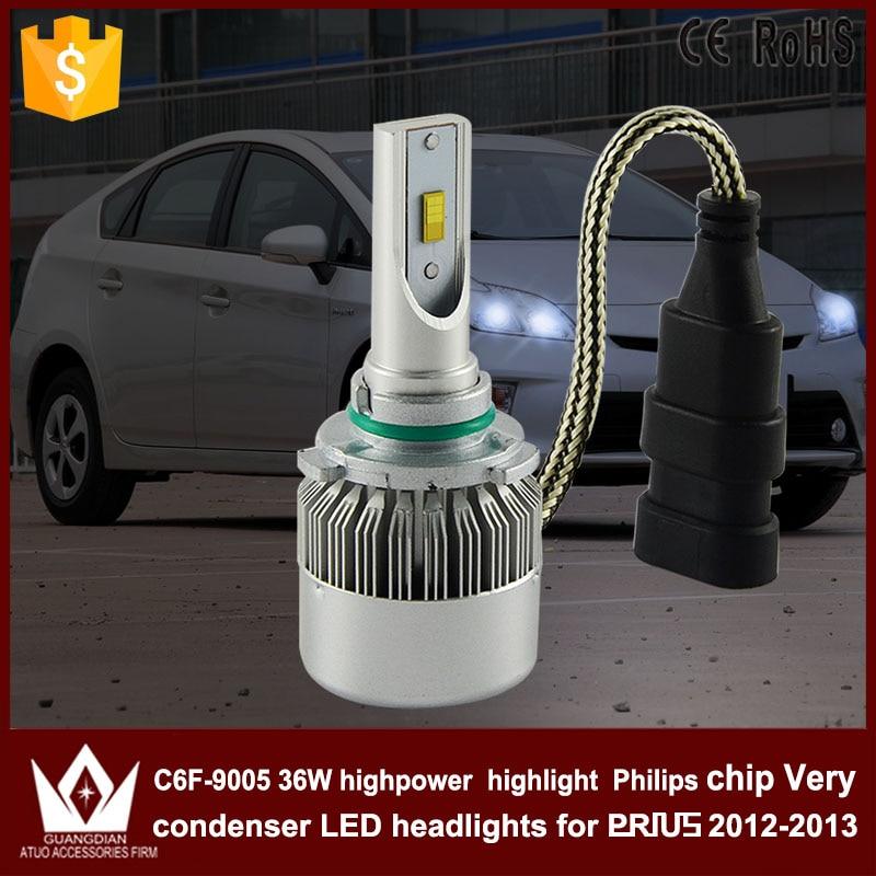 Guang Dian car led light 9005 Headlight Head lamp high beam 9005 hb3 C6F 6000K white 12V 36W for prius 2012-2013 only<br><br>Aliexpress