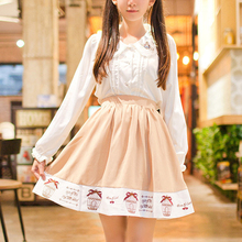 Buy Autumn Lolita Pleated Skirt Women Harajuku High Waist Skirt Japanese Cotton Rokken Cage Embroidery Mini Skirt T402 for $16.64 in AliExpress store