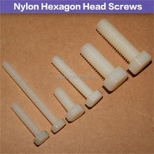M10x20/30-55  Nylon Screws Hex Bolts Plastic hexagonal Screws White