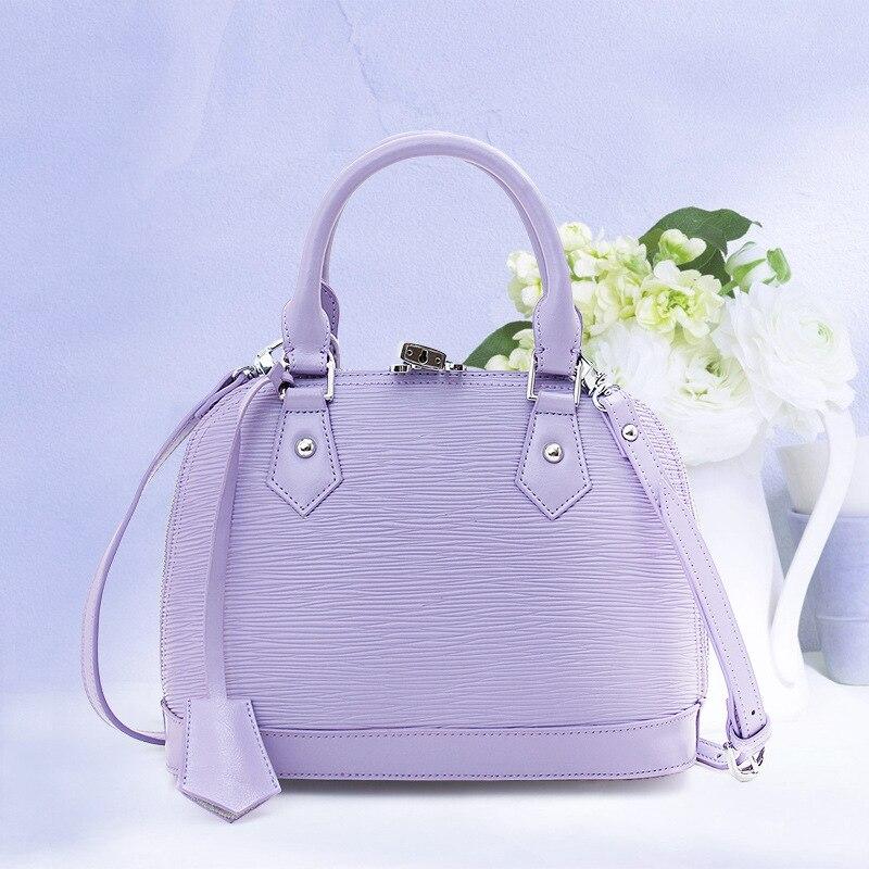 100% New Genuine Leather Bag Luxury Women Famous Brand Leather Handbag Shell Pattern Shoulder Messenger Bag For Bolsas Feminina<br><br>Aliexpress