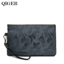 QIGER New Designer Nylon Male Clutch Bag Men Casual Phone Pocket Wallet Waterproof Business Small Hand Bag Man