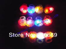 free shipping how sale Cool Led Light Up Flashing Bubble Elastic Ring Rave Party Blinking Soft Finger Lights Free shipping(China)