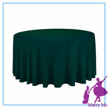 10pcs/lot Free Shipping Drak Green Round Tablecloths For Weddings 108'' round wedding table cloth