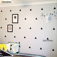 DIY Small Triangles Removable Vinyl Wall Stickers Baby Nursery Bedroom Wallpaper Kids Children Rooms Home Decor