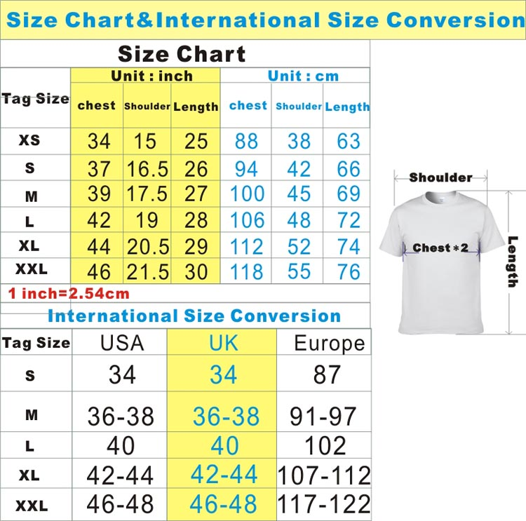 Mens shirt sizes  Size conversion charts  Size guide