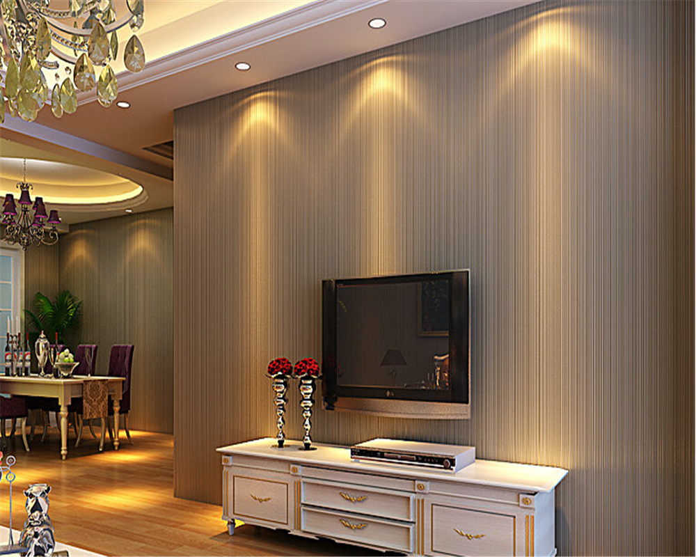 beibehang  wallpaper for walls 3d papel de parede Modern simple plain color deep brown stripe wall paper wallpaper cloth tapety<br>