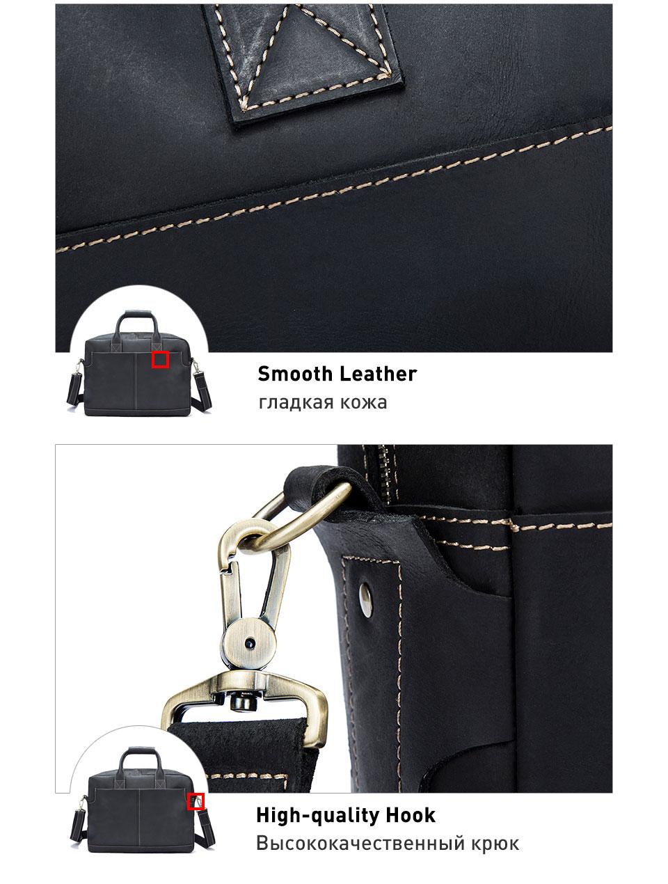 7 leather men bag