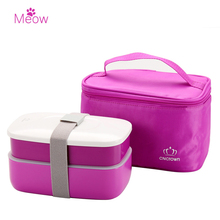 High Quality Japanese Bento Lunch Boxs Set with Insulated Thermal Cooler Lunch Tote Bag Food Container Microwave Safe BPA Free(China)