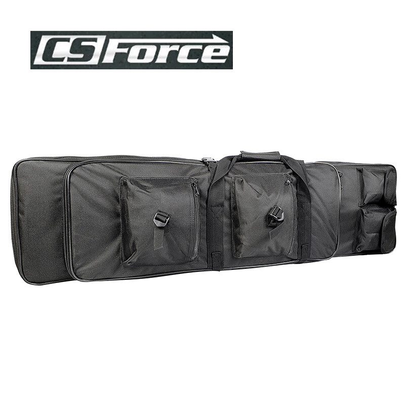 CS Force 100CM Dual Rifle Bag with Shoulder Strap Waterproof Protection Dual Rifle Gun Bag Pouch Case Hunting Black<br>