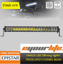 Eyourlife 31/33Inch 165w Offroad 4x4 ATV Led Light Bar Truck Light IP68 Led Driving Light  Super Bright Led Work Light Lamp