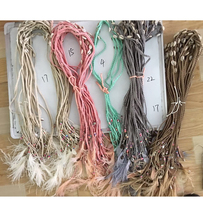 2017 New personalized handmade popular jewelry supplier unique boho leather cord  body chain necklace headhand