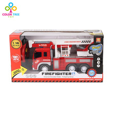 Fire Engine Truck Remote Control Toy with Ladder(China)