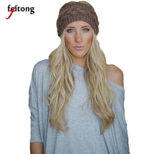 Feitong Hair Accessories Headband Women Knitted Headbands Winter Warm Head Wrap Wide Hairband Acessorio Para Cabelo A02(China)