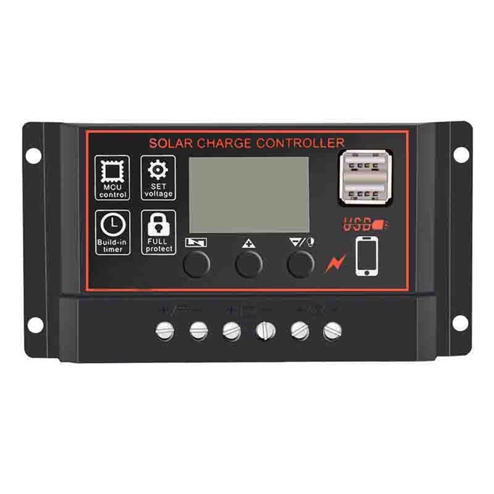 LCD 10A 20A 30A MPPT Solar Panel Battery Regulator Charge Controller 12V//24V #M