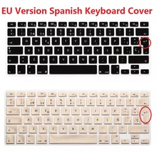 EU Euro Version ES ESP Spanish Keyboard Cover For Macbook Air Pro Retina 13 15 Silicone Laptop Computer Skin Protector For iMac