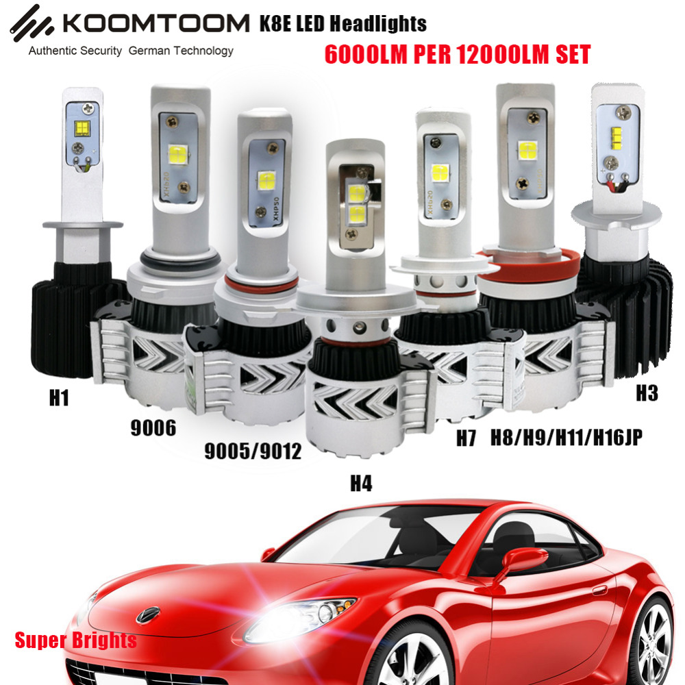 K8E Super Bright HB1/9004 HB5/9007 HB4/9006 HB3/9005 Car LED Headlight H7 H8/H11 H4 LED Headlight Bulb 12000lm LED Head Lamp<br><br>Aliexpress