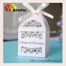 laser cut party light purple supply wedding table centrepieces wedding favors and gifts box with free name logo