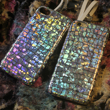 New Luxury bling Sequins Crocodile Skin soft pu leather phone Case cover for iPhone 7 7plus 6s 6 plus(China)