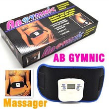 Vibrating slim belt massager ABGYMNIC Electronic Health Body Building back pain relief Massage Belt Without retail package