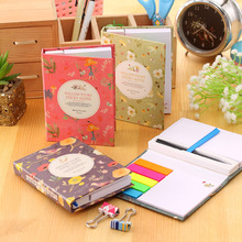 Creative Design Hardcover Memo Pad Post it Notepad Sticky Notes Kawaii Stationery Diary Notebook Office School Supplies + Pen