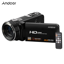 Andoer HDV-Z8 1080P Full HD Digital Video Camera Camcorder 24MP 16x Digital Zoom with LCD Touch Screen Support Face Detection