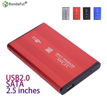 "Hard disk cartridge Aluminum Alloy HD HDD Hard 2.5"" HD BOX USB2.0 SATA BOX for Windows XP / Vista / Win7 / Win8 / Win10 Mac OS 8"