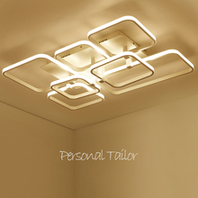 2017 New modern led ceiling chandelier lights for living room bedroom square art Indoor acrylic Ceiling chandelier Lamp Fixtures(China)