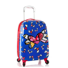 HEYS Cute Print Kids Luggage Large Capacity  Carry on Suitcase For girls With Expander 18 Inch Spinner Travel Trolley Case