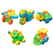 Jigsaw Building Assembled Toys Develop Learning Fun Build A Train Kids Children's Educational Toy With Clamp & Screwdriver Tool