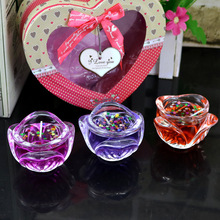 3 Branch Dress Colour Jelly Candle Lover Boxing Gift The Wedding Pendulum Platform Furniture Display Rather Than For Decoration(China)