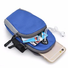 5.5inch Sports Running Jogging Gym Armband Arm Band Holder Bag For Mobile Phones free shipping(China)