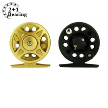 Super Light Fly Fishing Reel 2+1BB winter fishing plastic ice fishing reel Micro Adjusting Drag Fishing Reel pesca en hielo(China)
