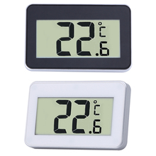 White/Black Digital LCD Thermometer Temperature Meter W/Magnet Hook for Refrigerator Indoor