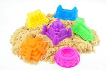 6Pcs/set Cute Beach Castle Building Mould Mars Sand Polymer Clay Candy Fimo Sculpture Super Light Clay Plasticine Mold Game Tool