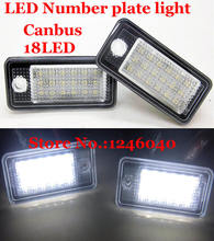 Canbus LED License plate light number plate lamp for Audi A3 A4 S4 RS4 B6 B7 A6 RS6 S6 C6 A5 S5 2D Cabrio Q7 A8 S8 RS4 Avant(China)