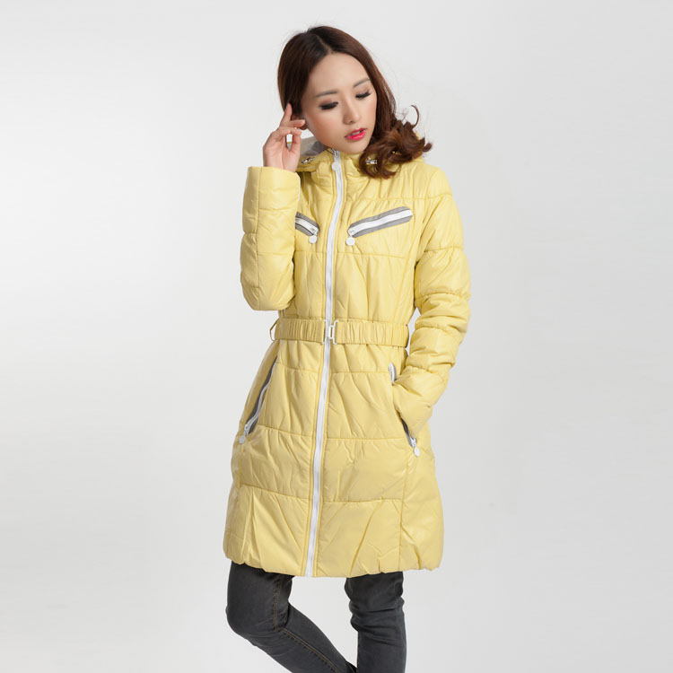 spring autumn and winter jacket women slim fashion long parka candy color European brands  young girls thin coats M561Одежда и ак�е��уары<br><br><br>Aliexpress