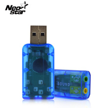 3D Audio USB Sound Card 3.5mm Usb Adapter 5.1 External Interface Mic Speakermic headphone Jack Stereo For Laptop PC Computer