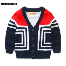 2017 New Sweater Girls Boys Cardigan Coats Casual Baby Boys Jackets Autumn Chidlren's Sweater High Quality Kids Warm Coats SC734(China)