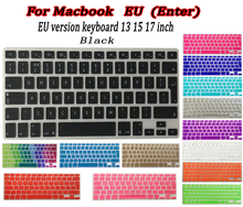 14 Colour EU Silicone keyboard cover for Apple macbook Air Pro Retina 13 15 17 Protective Stickers for macbook laptop Skin Film