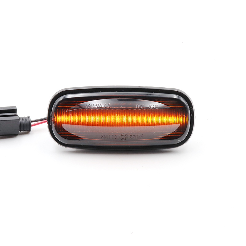 Land Rover Defender 90 110 LED Chrome Smoked Wing Indicator Repeater Lights Set