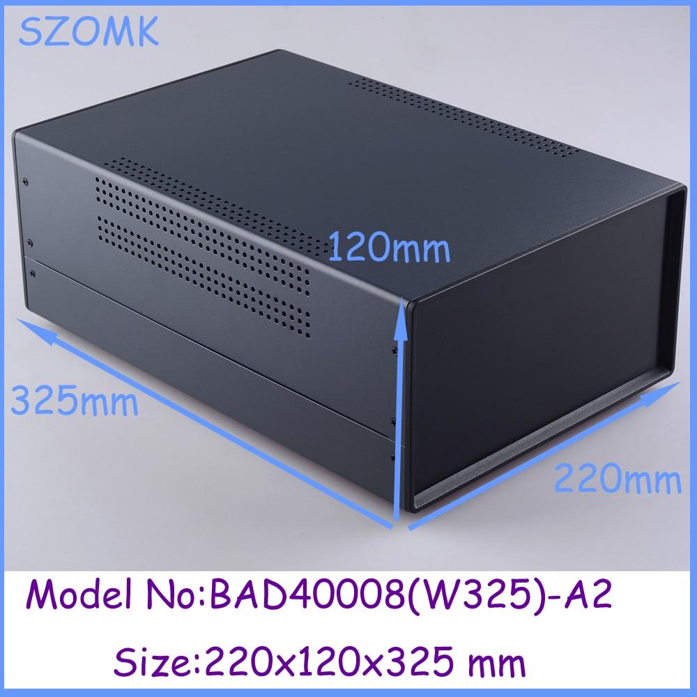 (1pcs)220x120x325mm metal enclosure switch box diy iron electronics box instrument case housing case for pcb extrusion enclosure<br><br>Aliexpress
