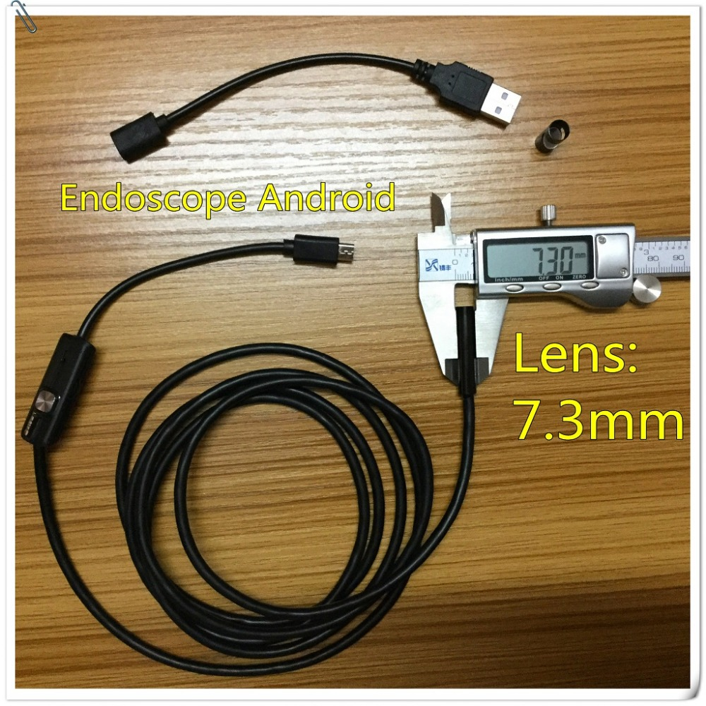 Endoscope Android Lens 7mm Waterproof Borescope Micro USB Inspection Video Camera 6 LED Inspection Borescope Tube Camera 2 Meter<br><br>Aliexpress