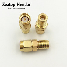 100Pcs Gold Brass SMB Female to SMA Male Jack Plug Straight Adapter RF Coaxial Coax Connector(China)