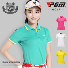 Two pieces of mail! PGM golf wear, ladies Golf ball wear, summer clothes, short sleeve women's t-shirts