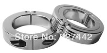 Dia 45mm stainless steel Scrotum Stretchers  Locking Hinged Cock Ring OR CBT Ball  male chastity device pendant ball sex toys