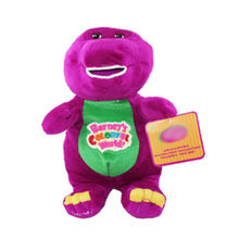 "11 Inch Barney The Dinosaur Sing"" I LOVE YOU"" song Purple Plush Soft Toy Doll SSF  Kawaii Kids Stuffed Toys For Children Dolls"