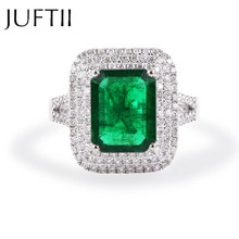 Brand Unique Retangle Emerald Green cz Diamond Big Engagement Wedding Cocktail Party Rings For Women Jewelry Bague Anillos