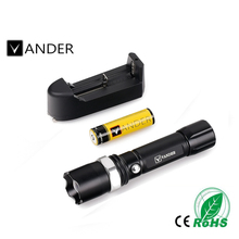 CREE XM-L T6 2000Lumens Cree LED Torch Zoomable LED Flashlight Torch light Powerful Outside Light For 18650 Battery
